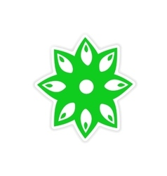 Icon sticker realistic design on paper anise vector