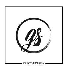 Initial gs letter logo template design vector