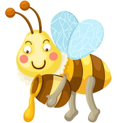 isolated bee vector image