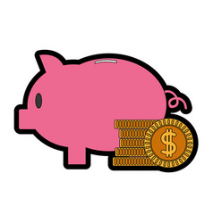 isolated piggy design vector image