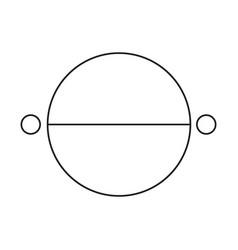 Karma astrology icon vector