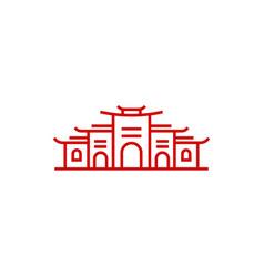 line art monoline temple logo design template vector image
