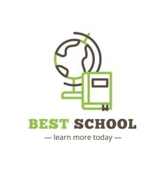 line style education logo Study logotype vector image