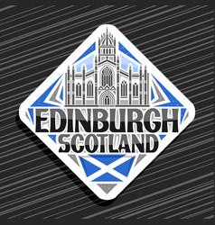 logo for edinburgh vector image