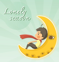 Lonely season vector