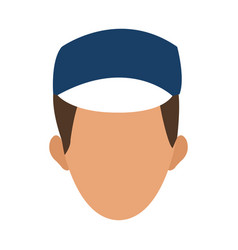 man face character people image vector image