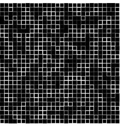 Mosaic pattern with random squares - black and vector