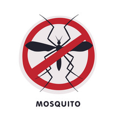 Mosquito harmful insect prohibition sign pest vector