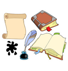 Old books collection vector