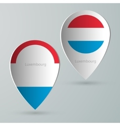 paper of map marker for maps luxembourg vector image