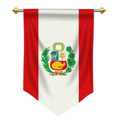 Peru pennant vector