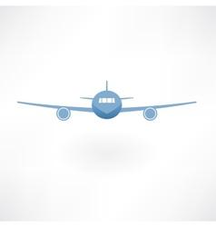 Plane flies icon vector