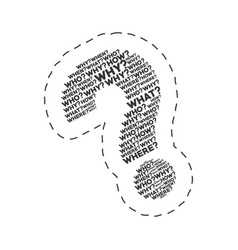 Question mark words image vector