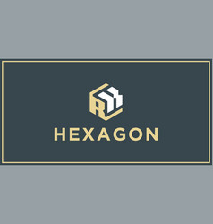 rk hexagon logo design inspiration vector image