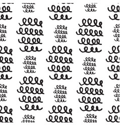 Seamless pattern doodles texture elements hand vector