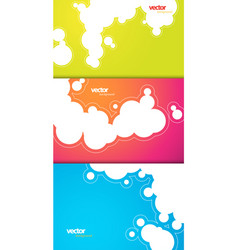 set of gift cards with bubbles signs vector image vector image