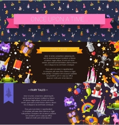Set of modern flat design fairy tales and magic vector image