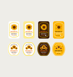 set templates label for sunflower oil vector image
