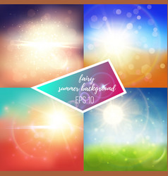 Shiny summer backgrounds vector