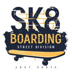 skateboard 011 vector image