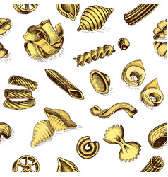 sketch - pasta pattern vector image