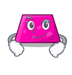 Smirking trapezoid character cartoon style vector