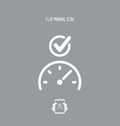 speed checking - flat minimal icon vector image