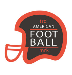 sport trd american football mrk helmet background vector image vector image