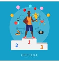 Sport Winner Concept vector image