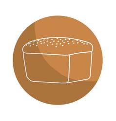 sticker delicious fresh bakery bread food vector image