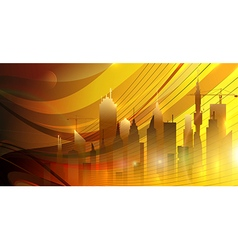 Sunrise in the city vector image