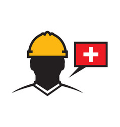 swiss contractor icon vector image