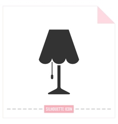 Table lamp Flat black icon Object of interior vector image