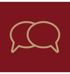 The speech bubbles icon Talk symbol Flat vector