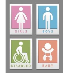 Toilet stickers vector