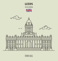 town hall in leeds vector image