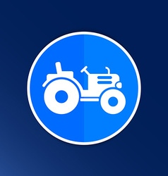 Tractor icon button logo symbol concept vector