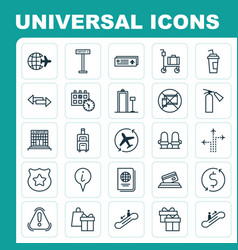 Transportation icons set collection of moving vector