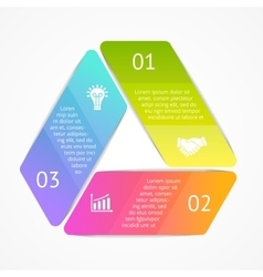 triangle infographic Template for cycle vector image
