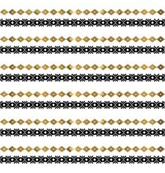 Tribal geometric gold pattern vector