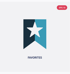 Two color favorites icon from multimedia concept vector