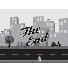 Urban background with text vector