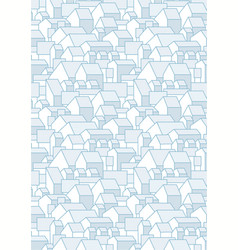 Vertical blue pattern with simple houses vector