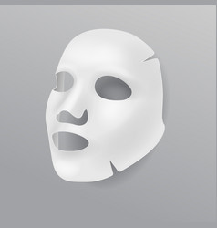 White cloth face mask cosmetic procedures vector