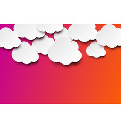 white clouds on bright colorful background vector image