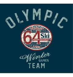 Winter ski games vector image
