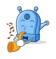 With trumpet pencil sharpener character cartoon vector