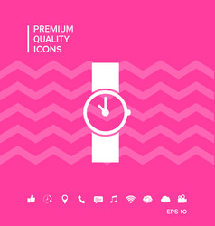 Wristwatch symbol icon vector