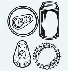 Bottle cap beer vector
