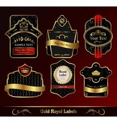 decorative dark gold frames labels vector image